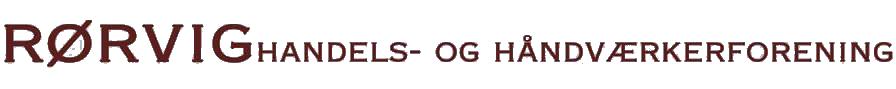 RØrvig handel logo